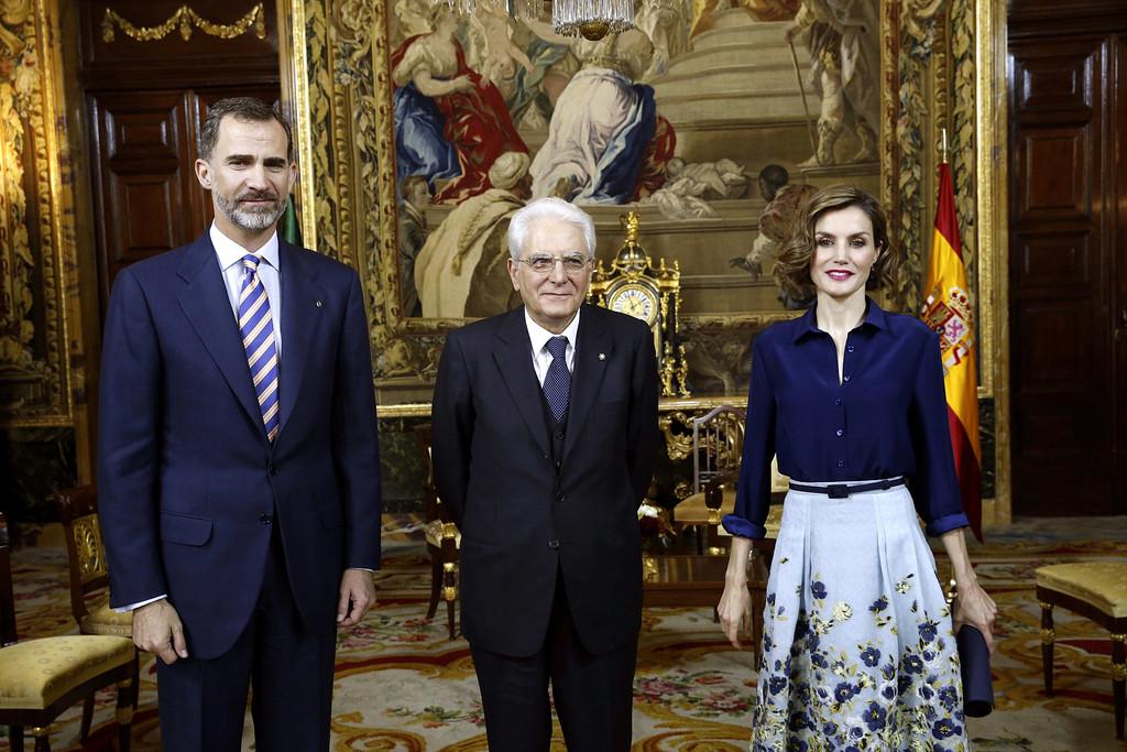 Queen+Letizia+Spain+Spanish+Royals+Meet+President+BszL8RZXp7Fx