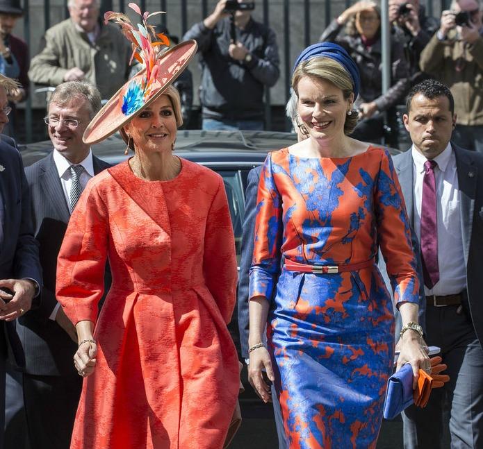Queen+Maxima+Netherlands+Queen+Mathilde+Belgium+clxewLr52Wex