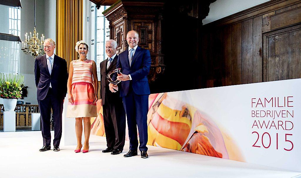 Koningin bij uitreiking Familiebedrijven Award
