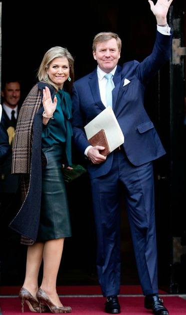 La-reine-Maxima-et-le-roi-Willem-Alexander-des-Pays-Bas-a-Amsterdam-le-12-janvier-2016