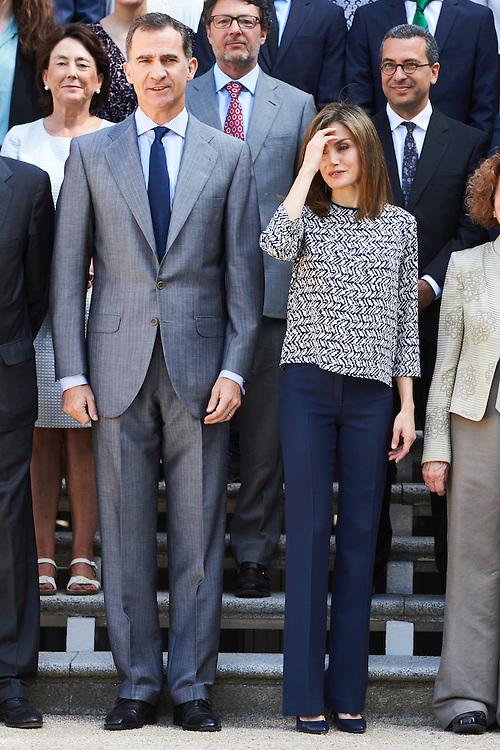 Spanish Royals Attend audience at Palacio de la Zarzuela