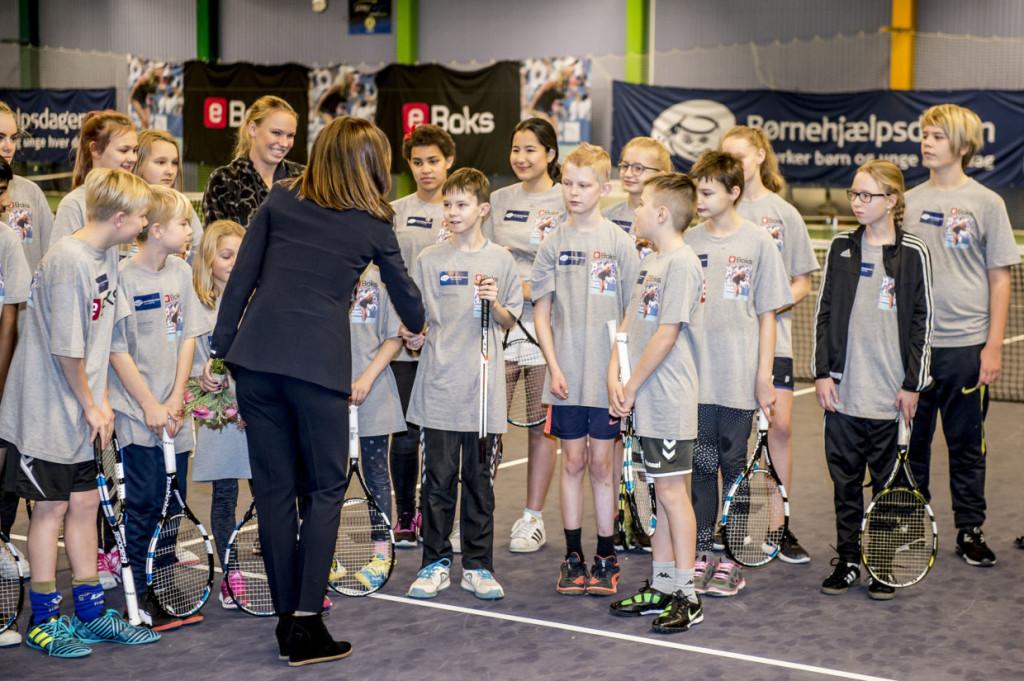 Tennis-event i KB Hallen i anledning af Børnehjælpsdagen, Kronprinsesse Mary