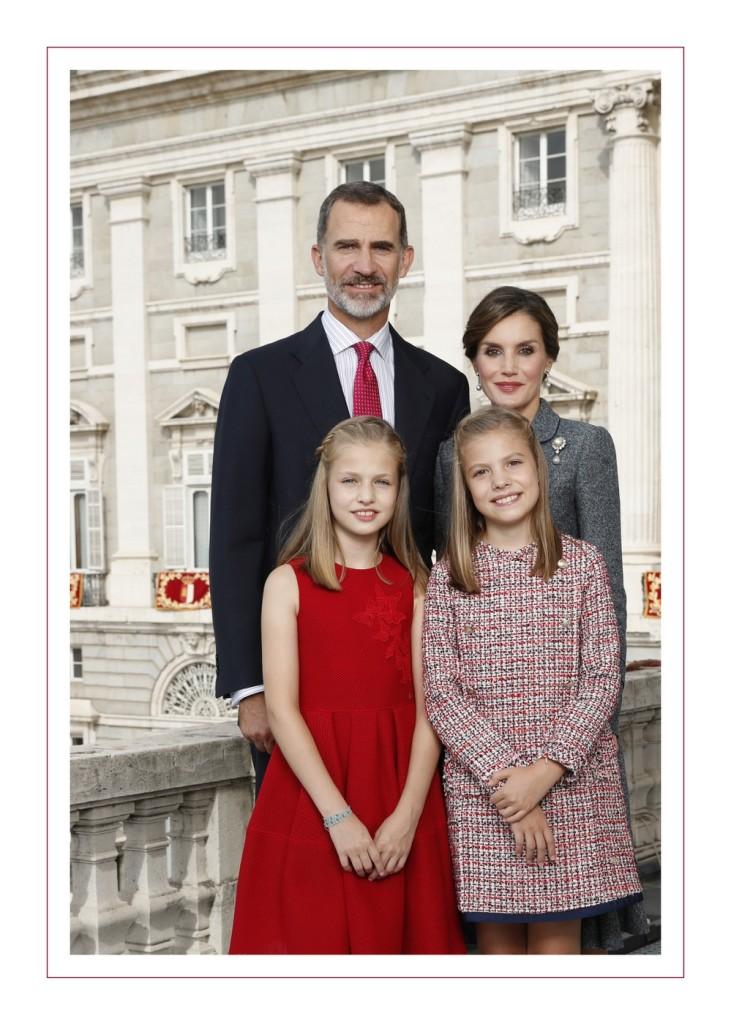 The Spanish Royal Family Christmas Card 2017