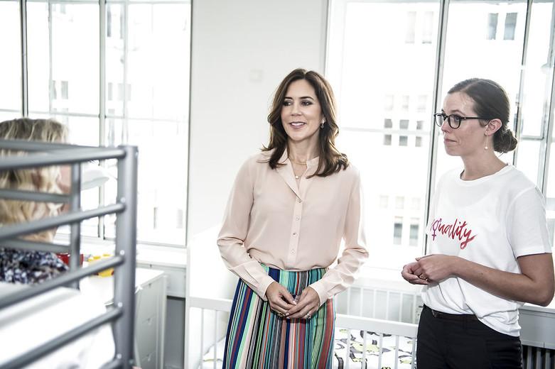 Kronprinsessen deltager i åbning af Dansk Kvindesamfunds Krisecenter, Kronprinsesse Mary, Kronprinsessen