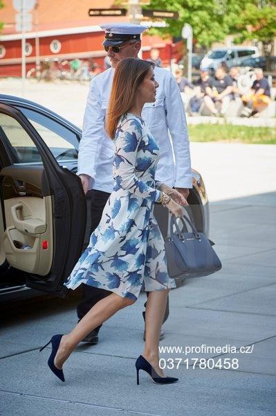 Princess Mary of Denmark arrives at UNESCO seminar