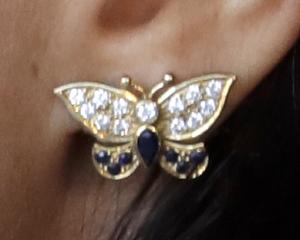 Princess Diana's Heirloom Butterfly Earrings