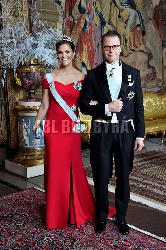 Kungens middag för Nobelpristagarna, Kungliga slottet, Stockholm, 2018-12-11