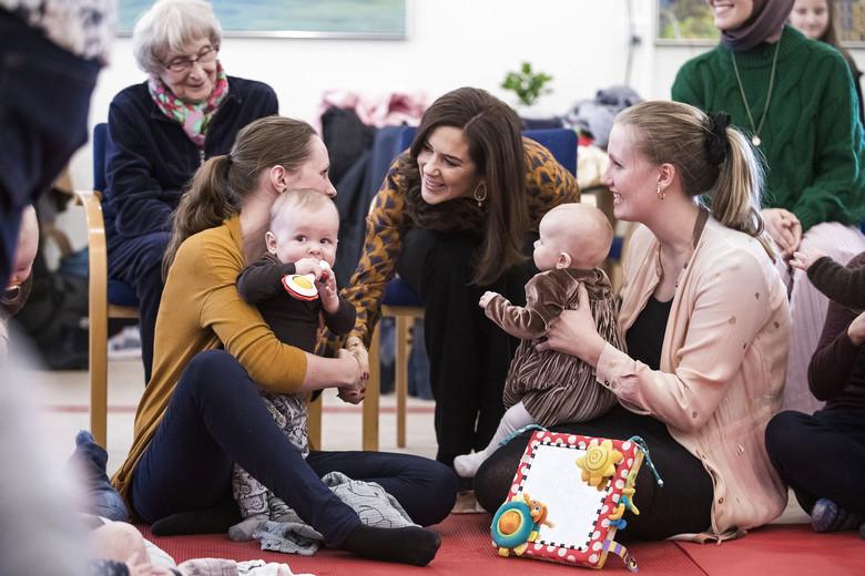 Kronprinsesse Mary aflægger som protektor for Europæisk Frivillighovedstad i Aarhus 2018 besøg på Frivillighuset Trøjborg, onsdag den 30. januar 2019.. (Foto: Mikkel Berg Pedersen/Ritzau Scanpix)